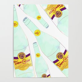 Topo Chico Mexican Sparkling Mineral Water Seltzer Bottle Poster
