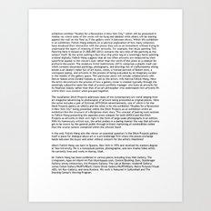 UMOCA Press Release (Page 2) Art Print