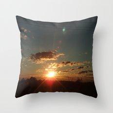 Australian Sunrise Throw Pillow