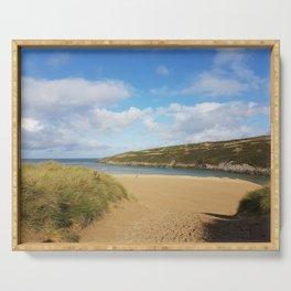 Crantock Beach, Cornwall Serving Tray