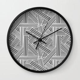 Sketchy Abstract (White & Grey Pattern) Wall Clock