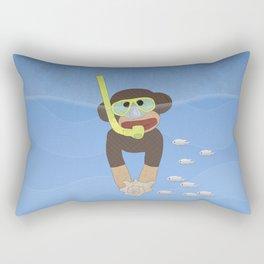 Sock Monkey Snorkeling Rectangular Pillow