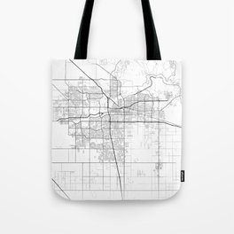 """""""Minimal City Maps - Map Of Bakersfield, California, United States Tote Bag"""