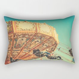 Vintage Chain Swing Ride on Blue Sky  Rectangular Pillow