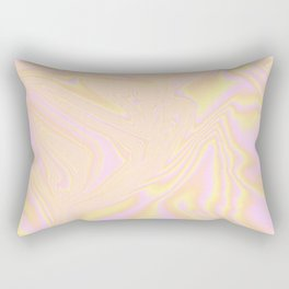 Orange Holographic Rectangular Pillow