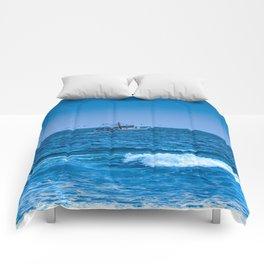 Deep Blue Fishing Comforters