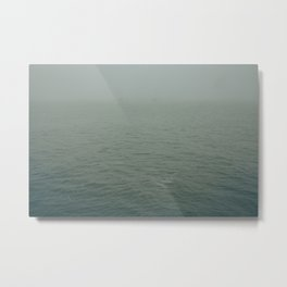 Foggy morning in NYC Metal Print