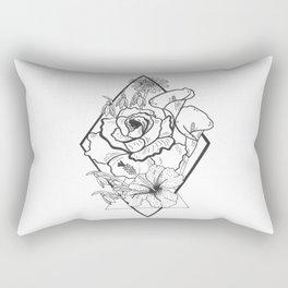 Tattoo Floral Rectangular Pillow