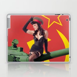 """Sovietsky by Land"" - The Playful Pinup - Russian Tank Pin-up Girl by Maxwell H. Johnson Laptop & iPad Skin"