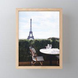 Breakfast at the Eiffel Tower Framed Mini Art Print