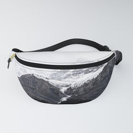 Moody snow capped Mountain Peaks - Nature Photography Fanny Pack