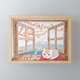 Nyanko-sensei (Natsume Yuujinchou) Framed Mini Art Print
