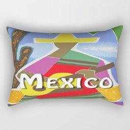 Vintage Mexico Vihuela Travel Rectangular Pillow