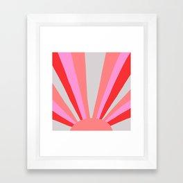 sunshine state, coral Framed Art Print