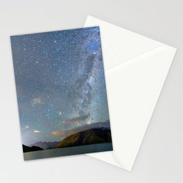 New Zealand Southern Hemisphere Skies Over Lake Wakatipu Stationery Cards