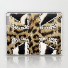 Wild | Hipster leopard Print Zebra UK Union Jack Flag  Laptop & iPad Skin