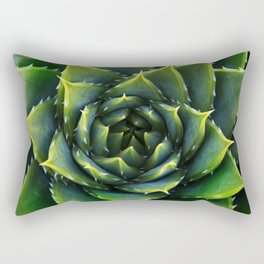 Green and thorns Rectangular Pillow
