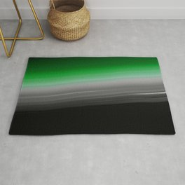 Green Gray Black Ombre Rug