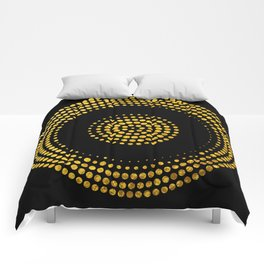 Abstract gold confetti Comforters