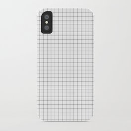 Grid lines pattern iPhone Case