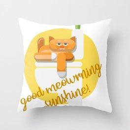 eyeLoveMyCat Throw Pillow