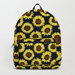 Sunflowers are the New Roses! - Navy Backpack