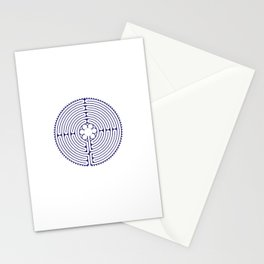 Cathedral of Our Lady of Chartres Labyrinth - Blue Stationery Cards