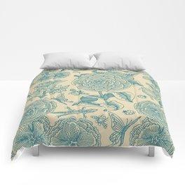 Garden Bliss - in teal & cream Comforters