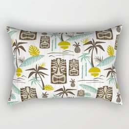 Island Tiki - White Rectangular Pillow