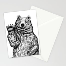Waving Bear Stationery Cards