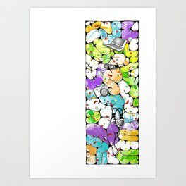 the pieces of the future Art Print
