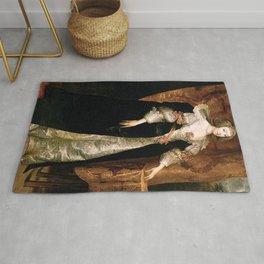 Anthony van Dyck - Portrait of Marguerite de Lorraine Rug