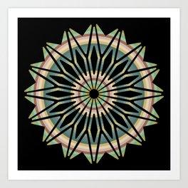 Banded Mandala Art Print