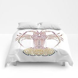 Tribal Caribbean Lobster Comforters
