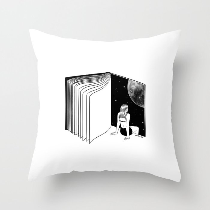 Reading is Dreaming with Your Eyes Open Throw Pillow