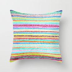 kids crayons Throw Pillow