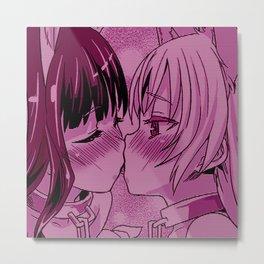 Cute anime aesthetic - kissy Metal Print