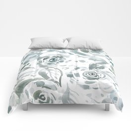 Evelyn Gray Floral Comforters