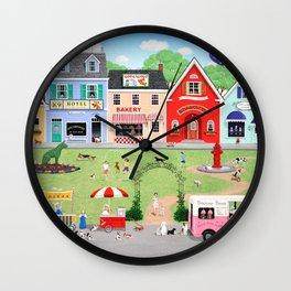 Doggie Heaven Wall Clock