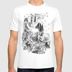 Moose Motor Cycles Mens Fitted Tee White MEDIUM