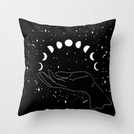 my moon phases Throw Pillow