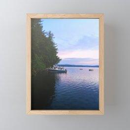 Sunrise Fishing Boat Framed Mini Art Print