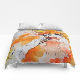 Red fox and fox cub Comforters