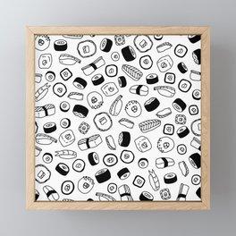 Sushi Pattern Framed Mini Art Print