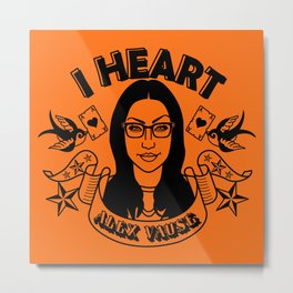 I heart Alex Vause Orange - OITNB inspired Metal Print