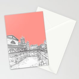 City Of Bath (Coral Pink Version) Stationery Cards