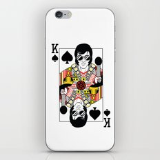 Elvis Presley Playing Card illustration  iPhone & iPod Skin