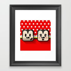 sweethearts, mickey and minnie Framed Art Print