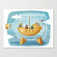 AIRSHIP IN A BOTTLE Canvas Print