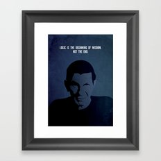 Leonard on Logic Framed Art Print